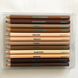 子ども英語、肌の色のクレヨンと色鉛筆、日本の子どもに見せたいな