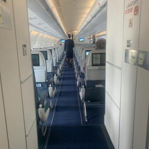 出発前の機内