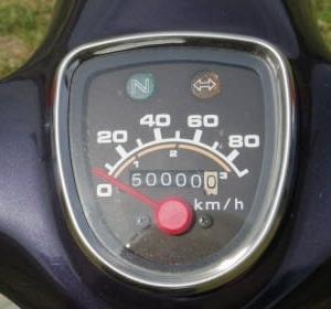 supercub90 やっと半分の50000kmに到達