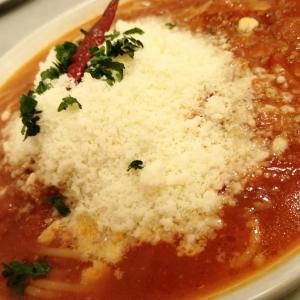 スパゲッティー専科はらっぱ 高崎問屋町店の赤唐トマトソースのボロネーゼ