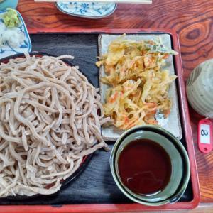 かどやのもり蕎麦(大)と天ぷら