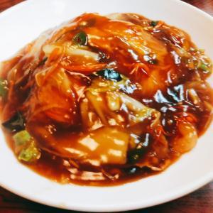 野菜あんの天津飯、トンコツラーメン