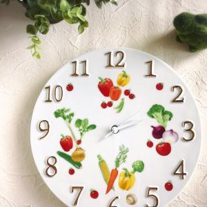 イタリアンレストランへの贈り物 鮮やかなベジタブルの時計