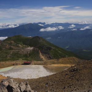 日本一高所の湖 御嶽山二ノ池のBefore After