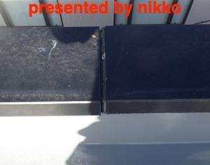 笠木のジョイントのオーバーブリッジ工法