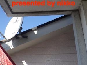 タラップが無くて屋上に上がるのに大変だった。(-。-;
