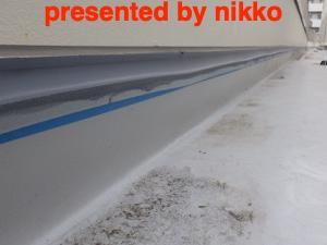 新築、塩ビシート防水の雨漏り修理。(2)