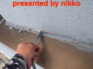 複雑な構造の屋上部分の雨漏り修理に苦戦。(´°̥̥̥̥̥̥̥̥ω°̥̥̥̥̥̥̥̥`)