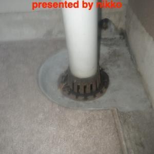 連結式排水ドレンの修理。