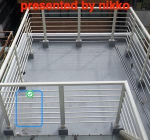 防水のやりかえとフェンスの取り替えをしたけれど雨漏りが再発したとの事で現調。