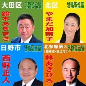 7月6日 昨日投開票された都議会議員補欠選挙において自民党公認公明党推薦候補が当選しました