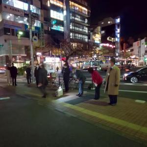 12月1日 本日は永見市長を応援する議員有志で街頭活動を行いました