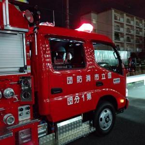 8月5日 本日は国立市消防団第一分団で車両点検と市内巡回を行いました