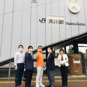 9月15日 本日は矢川駅で小田原きよし衆議院議員と共に朝の街頭活動を行い、その後は打ち合わせの合間に最終本会議に向けた討論原稿を作成していました