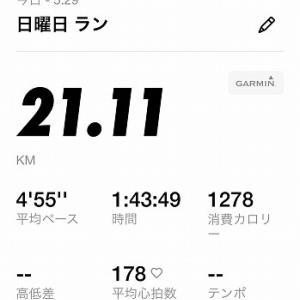 今月2度目の独りハーフマラソン