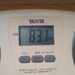 83.1kg ~ 秋はマズイなぁ~。