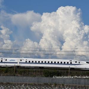 夏雲と新幹線6