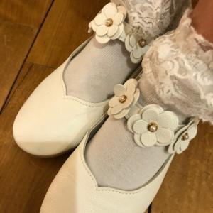ピアノのコンクールで履いたフォーマルな白い靴
