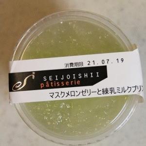 マスクメロンゼリーと練乳ミルクプリン★成城石井★