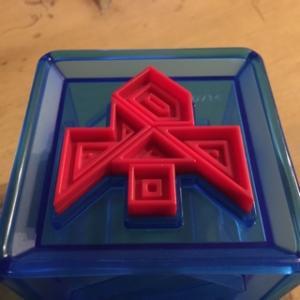 Adams Cube 〜納まりそうで納まらない、形のパーツを考えさせられるパズル〜