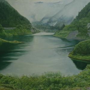 コロナ騒動と名栗湖の絵