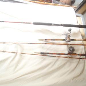 短竿での釣り