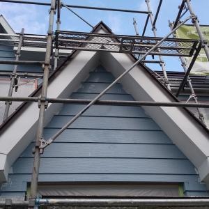 塗装工事  屋根、破風、軒天、塗装、 しました。札幌南区石山1条7丁目29  M 邸