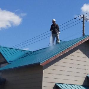 屋根塗装工事 高圧洗浄しました 札幌市南区 石山1条3丁目2 T邸