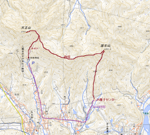 美濃低山の雄ー天王山(538m)、誕生山(502m)