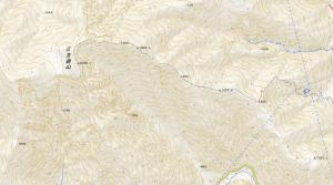 6月初めの三方崩山(2,059m)