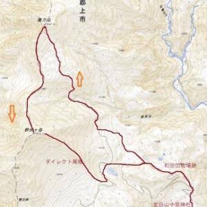 薙刀山(1647m)〜野伏ヶ岳(1674m)周回