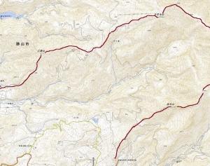 白山越前禅定道から経ヶ岳(1,625m)へ