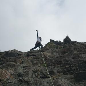 高木山(美濃加茂市)で登攀修行