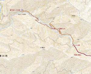阿寺山地の難峰 井出ノ小路山(1,840m)再訪