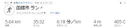 ホリデイスポーツクラブ函館3往復、五稜郭公園3周+RUN