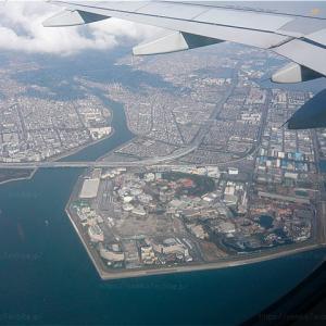 200225 飛行機の車窓から 東京ディズニー