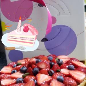美味しいタルトケーキを頂きました(*^_^*)
