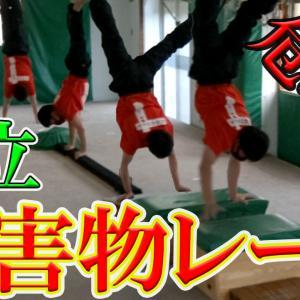 【倒立歩行】危ない障害物レース【双子H】