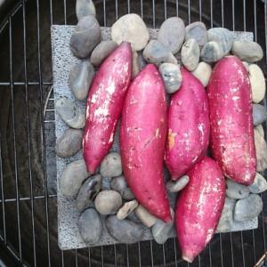 溶岩プレートで焼き芋にトライ 食欲の秋には「焼き芋」が一番