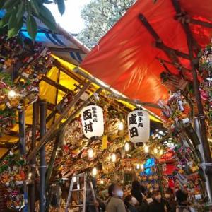 大鳥神社の「3の酉」参拝の入り口では検温が行われていました
