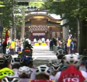 大國魂神社内を通るオリンピック自転車ロードレースの映像が話題に