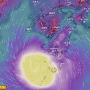 9月6日。Windy台風予想。