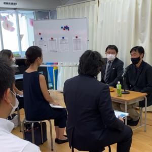 品川翔英小学校山崎副校長先生、教務主任の阿宮先生をお迎えしてお話しを伺いました