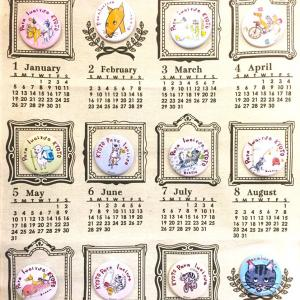 「ドジオくんたちのバッジカレンダー☆」キラリ本日のおすすめ