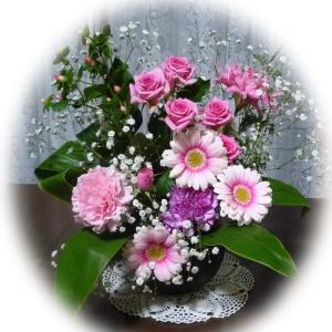 ピンクのお花に癒されます。