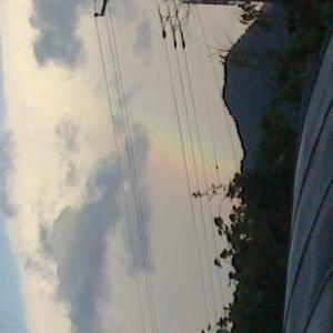 虹が出てたよ!