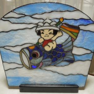京都リビング小山様の作品、「鯉のぼり」と「バラの花束」2点完成しました!