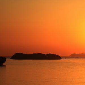 思い立って夕陽