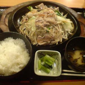 豚肉と野菜の鉄板焼き定食@テング酒場