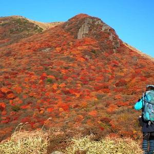 24日.夕陽に映える紅葉を観にくじゅうへ
